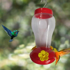 Hanging Hummingbird Water Feeder Wild Bird Nectar Plastic Outdoor Backyard
