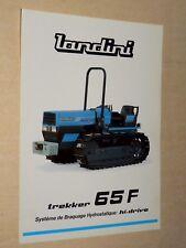 Prospectus Tracteur LANDINI 65 F  brochure tractor traktor trattore  prospekt