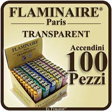 ACCENDINI FLAMINAIRE TRANSPARENT Colorati PIETRINA 2 BOX 100 PEZZI Economici