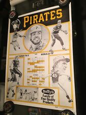 1979 PITTSBURGH PIRATES KDKA DAILY'S JUICE SCHEDULE POSTER WILLIE STARGELL 19X25