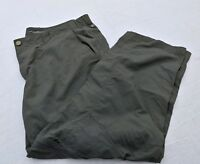 COLUMBIA OMNI-SHADE GRAY PANTS 42 X 30 NYLON FLAT FRONT NO CUFF ZIP OFF LEGS