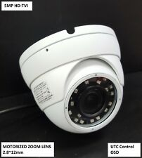 HD-TVI 5MP Motorized Zoom Auto Focus 2.8-12mm CMOS Dome Camera HDTVI IR SMD LED