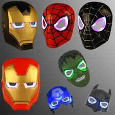 Halloween Party Luminous LED Child Spiderman Hulk Batman Face Masks Super Hero