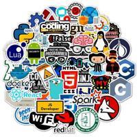 50Pcs Software Pattern Waterproof Stickers Fridge  Skateboard Suitcase Sticker