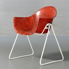 Walter Papst, Schalenstuhl Wilkhahn rot Kinderstuhl Kids Chair Fiberglas 1960