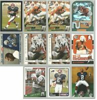 Willis McGahee Buffalo Bills Miami Hurricanes 11 card 2003 RC lot-all different
