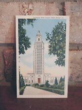 Vintage Linen Postcard Louisiana State Capitol Baton Rouge LA Photo by Gasquet