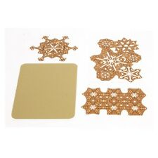 Anna Griffin Cuttlebug SNOWFLAKE Cut and Emboss Die Set Retired HTF  New