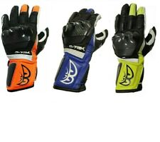 BERIK Motorbike Motorcycle Riding Racing leather gloves carbon fibre protections