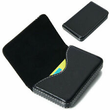 Hot Black Pocket PU Leather Business ID Credit Card Holder Case Wallet