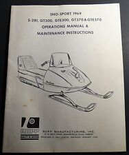 1969 RUPP SNO-SPORT S-281,GT300,GTE300,GT370 OWNERS OPERATORS MANUAL (254)