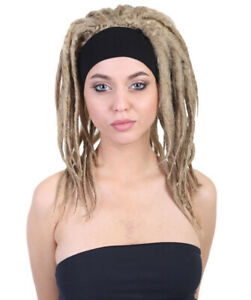 Adult Women Brown Deluxe Dreads Wig Halloween Cosplay Party Costume Hair HW-1522