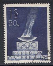 Österreich 854 Olympische Spiele 1948 London Olympische Flamme gestempelt