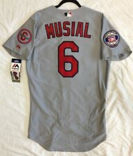 Authentic MAJESTIC SZ 40 MEDIUM, ST LOUIS CARDINALS STAN MUSIAL ON FIELD, Jersey