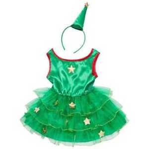 Toddler Girl Baby Xmas Christmas Tree & Fairy Costume Outfit Fancy Dress 1-2y