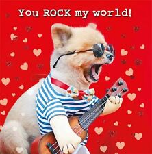 Valentines Day Card General Dog & Guitar