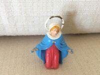 STATUINA PRESEPE IN PLASTICA ANNI '70 MARCATA NARDI MADONNA VERGINE MARIA