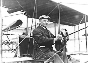 1910 Photo-Thomas S. Baldwin Seated in Cockpit Small Pedal Motorized Airship-5x7