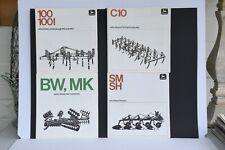 John Deere 60s/70s tractor implement collection brochures ploughs etc x 4 items