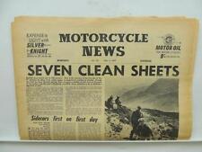1960 Motorcycle News Newspaper Scottish Six Days Trial Sidecar Triumph L7123