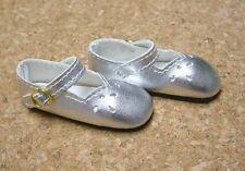 "Doll Shoes, SLIM*  58mm Silver Girl Dressy - fits 14"" Kish"