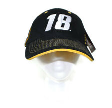 NASCAR Kyle Busch #18 Mens Adjustable Black Yellow Hat M&Ms Joe Gibbs Racing