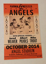 2014 Topps 5x7.75 Postseason Posters Angels (#d 39/99) Mike Trout/Pujols/Weaver