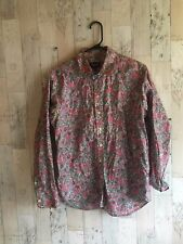 Liberty Of London Floral Long Sleeve Cotton Button Down Size 10