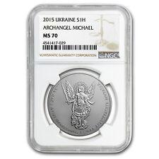 2015 Ukraine 1 oz Silver Archangel Michael MS-70 NGC - SKU #150795