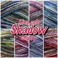 King Cole Shadow Chunky Acrylic Variegated Knitting Yarn 100g Ball