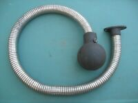 """MAYTAG MODEL 92 and early 72 twin MUFFLER, FLANGE and HOSE 34"""" LONG"""