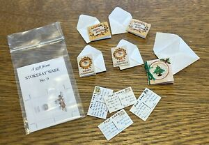 10x 1:12 Scale Miniature Greetings and Post Cards with Envelopes - Artisan Made