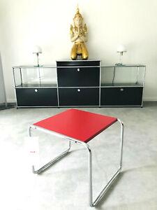 Knoll International Laccio 1 in rot, Marcel Breuer, Bauhaus Beistelltisch, NEU