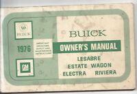 1976 Buick Lesabre Electra Riviera Owner's Manual Vintage GM General Motors