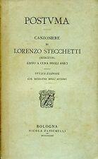 Lorenzo Stecchetti = POSTUMA canzioniere con ritratto Ed. 1881