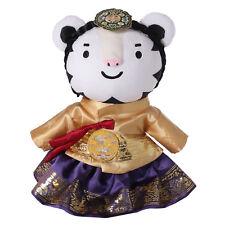 2018 Korea Pyeongchang Winter Olympics Soohorang Mascot Hanbok Queen Plush Doll