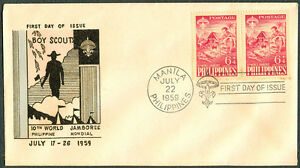 1959 Philippines 10th World Jamboree First Day Cover K