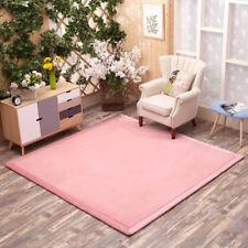 Kids Playing Tatami Carpet Living Room Bedroom Mat Soft Coral Fleece Area Rug
