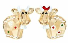 New $149 Swarovski Gingerbread Mo Set of 2 Limited Edition 2018 # 5403297