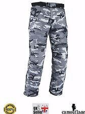 "Camo Motorcycle Trouser Waterproof Motorbike Armour Trousers Pants Ladies Mens 7xl Regular 32"" - 81cm"