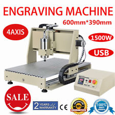 6040 CNC Router 4Axis 1.5KW Spindle Motor Milling Drilling Engraving Machine USB