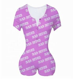 "Pink Woman ""Bad Bitch"" Size 2XL Jumpsuit/Romper ""pajamas"""