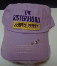 THE SISTERHOOD Purple Baseball Hat Cap Homefront  Military Gaby Juergens