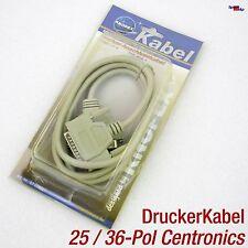 Cable IMPRESORA LPT PARALELO Port Centronics 36-polos a dsub 25-polos 1,8m Printer