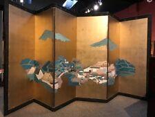 Japanese Antique Six Panel (Byobu) Folding Screen.