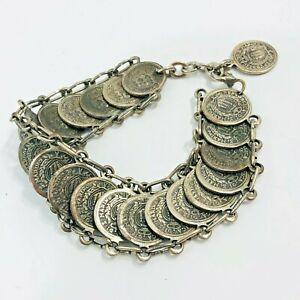 Vintage Coin Bracelet San Marino Italy Souvenir Tourist Costume Jewelry