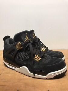 [Excellent] Mens Nike Air Jordan 4 Retro Royalty Suede Sneakers 308497-032