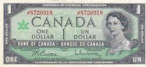 1967 Canada $1 Note, Pick 84b