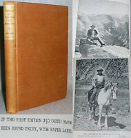 Antique Theodore Roosevelt Book Camping and Tramping Limited Edition 1/250 1907
