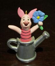 RARE Disney Winnie the Pooh Piglet Gardening Hallmark Christmas Ornament Figure